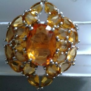 Jewelry - Citrine sterling silver stone ring 9